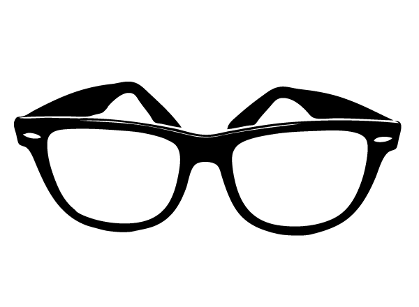 Thick glasses clipart