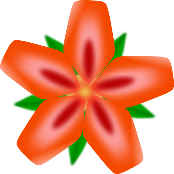 Hibiscus Clip Art Vector Online Royalty Free Public