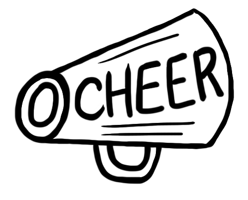 Revered image within free printable cheerleading clipart
