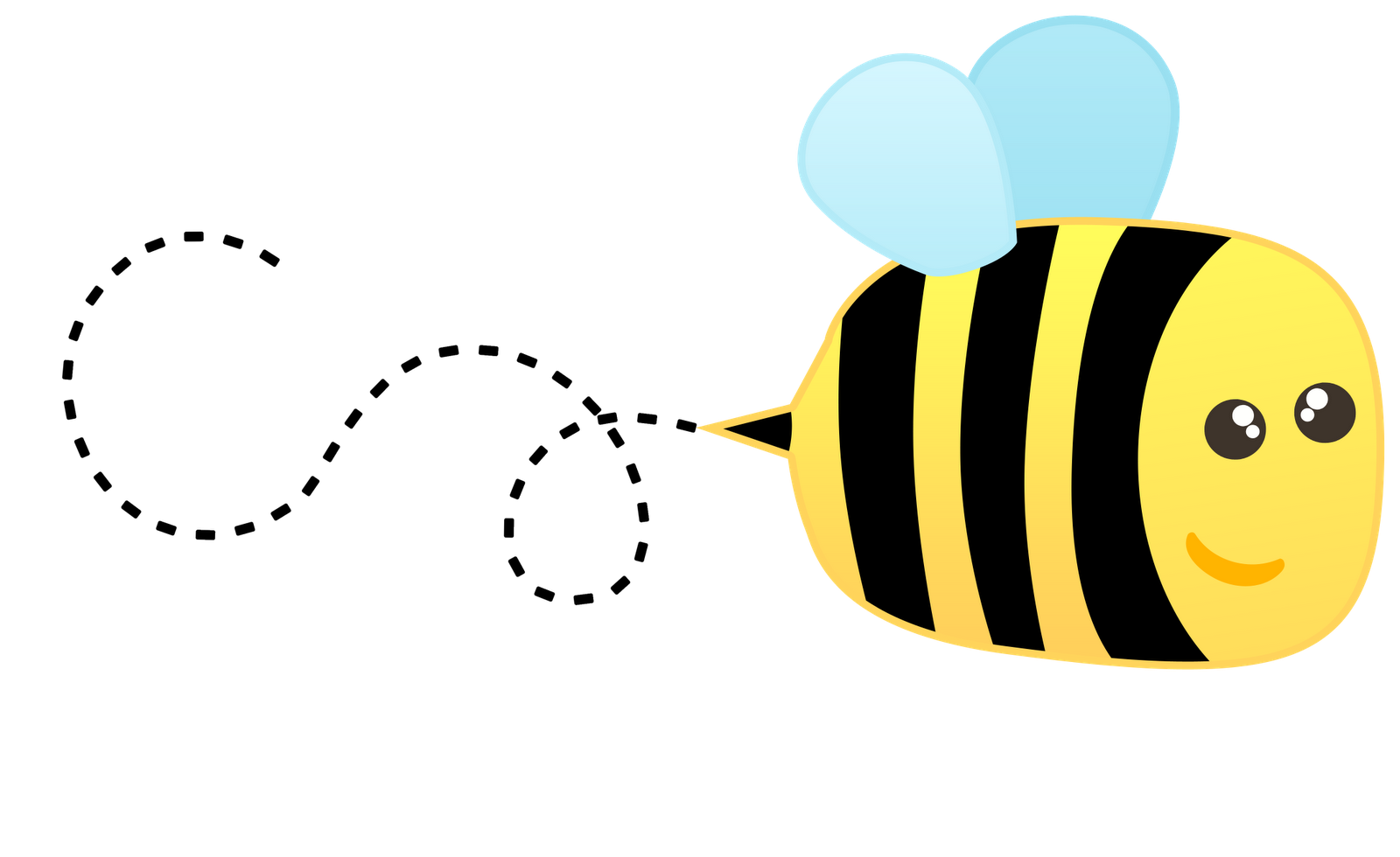 Bees working together clip art