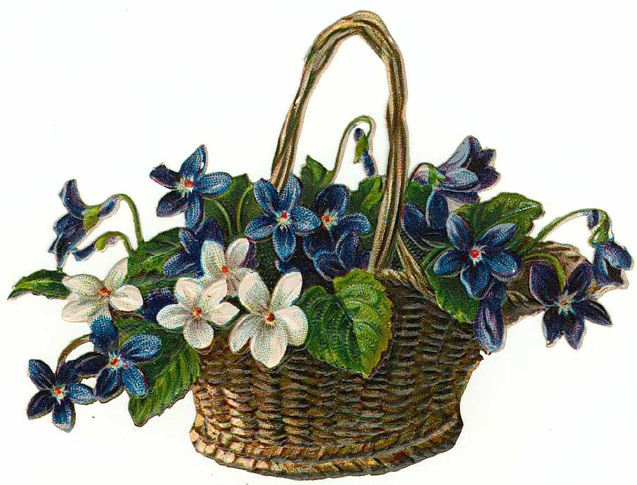 Flower Baskets Clip Art - ClipArt Best