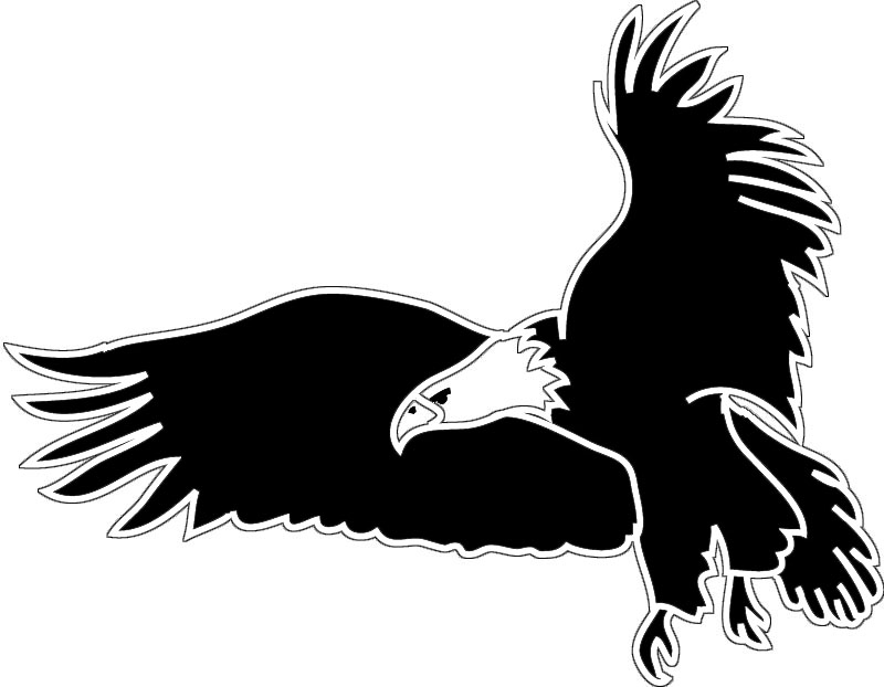 Silhouette Eagle - ClipArt Best