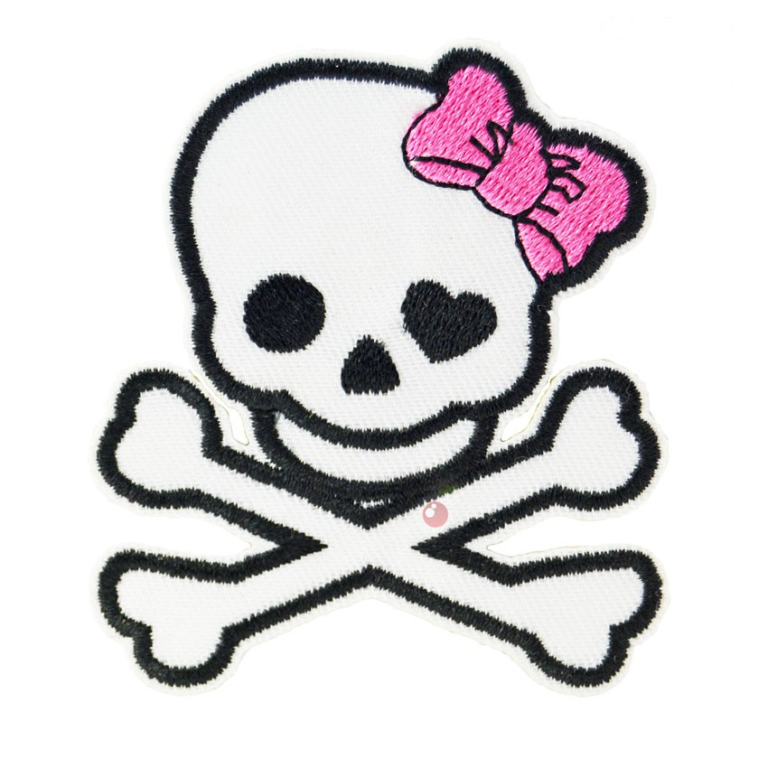 Girly Skull And Crossbones 12 Inch Decal Sticker Multiple Colors ...