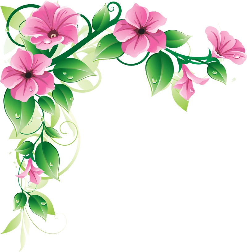 Flowers Clip Art Border House Design And Plans