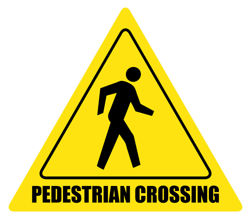 pedestrian crossing sign road signs clipart best