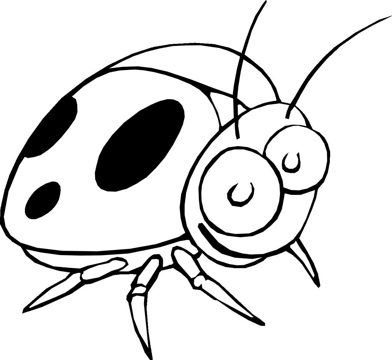 Line Art Flower Vector : Ladybug black white line art flower scalable vector