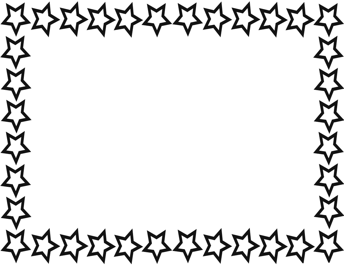 Star border clip art clipart best Drawing images free download