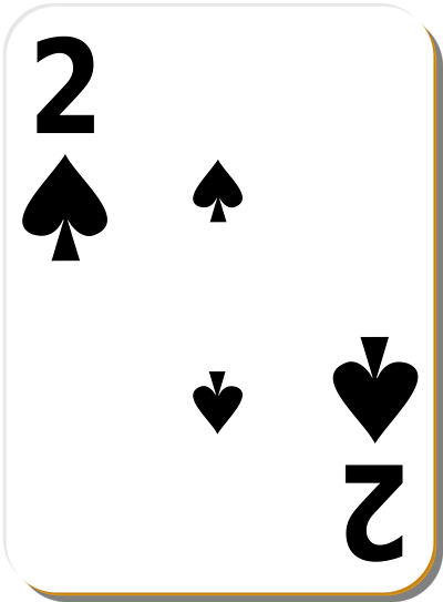 Free Stock Photos | Illustration Of A Two Of Spades Playing Card ...