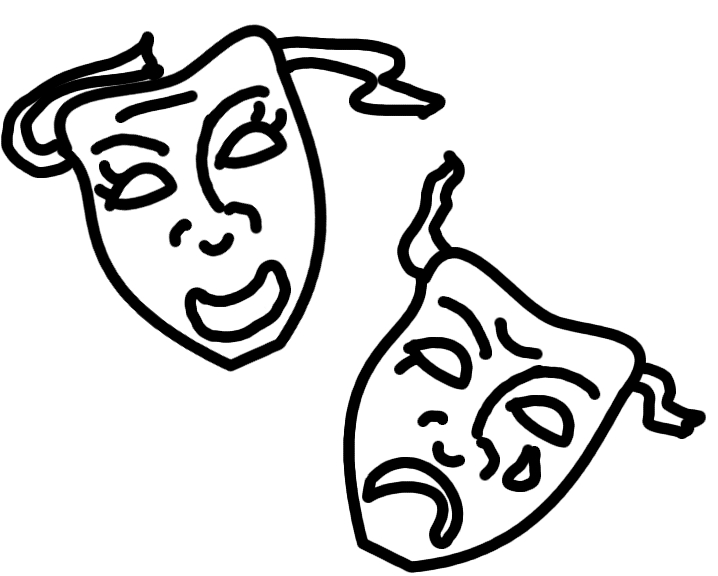 coloring pages of drama masks - photo#16