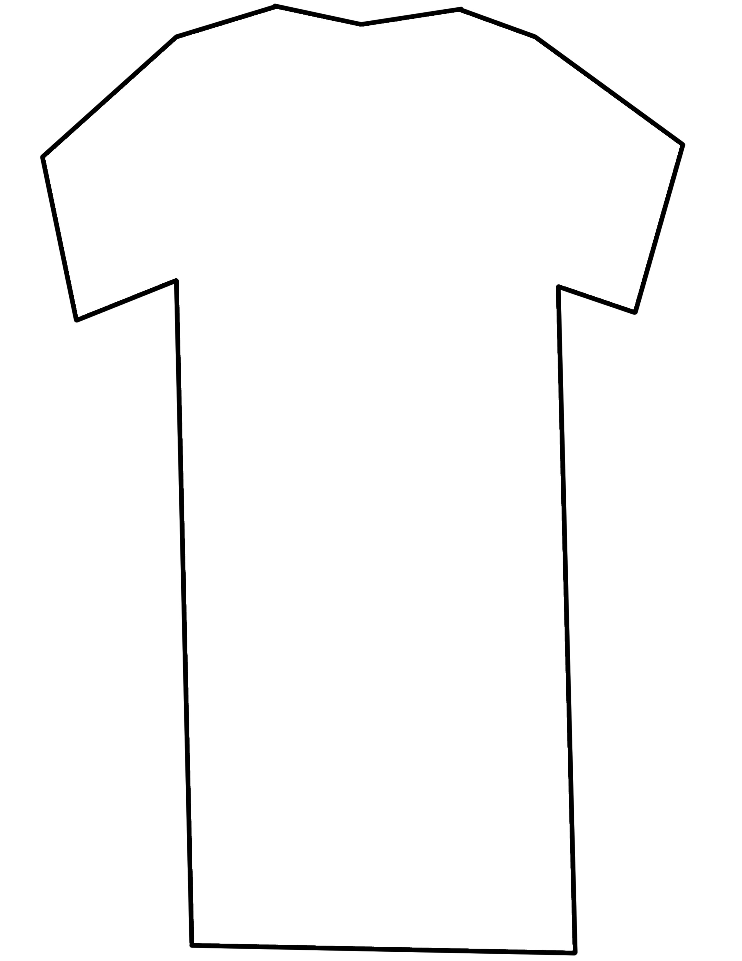 T Shirt Template Printable - ClipArt Best