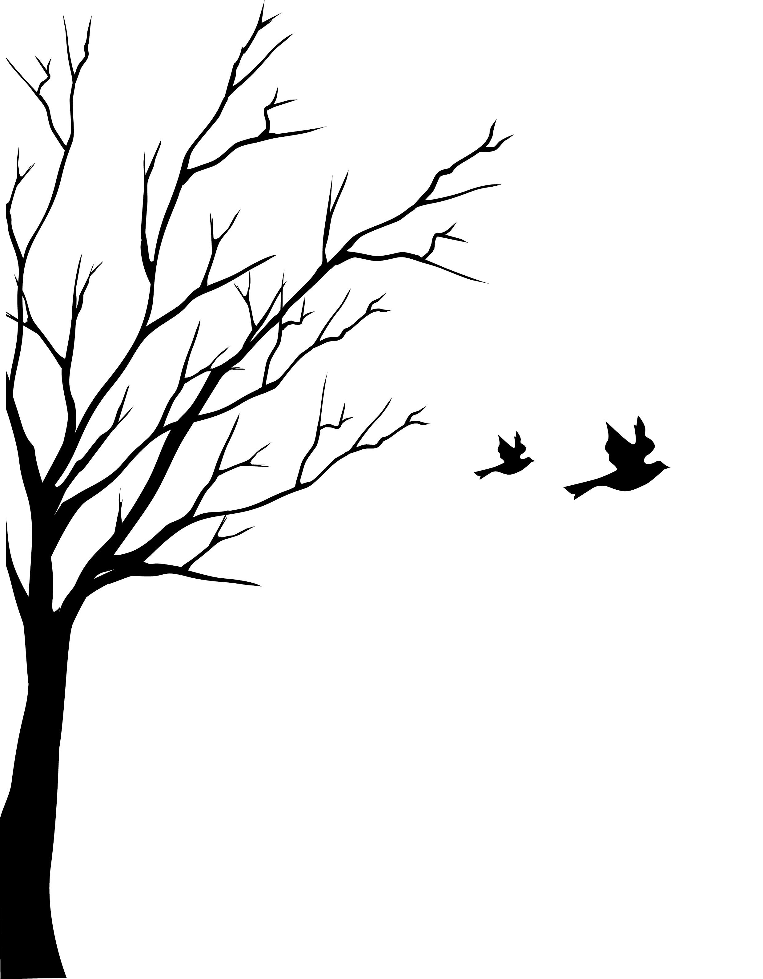 tree with birds clipart - photo #43