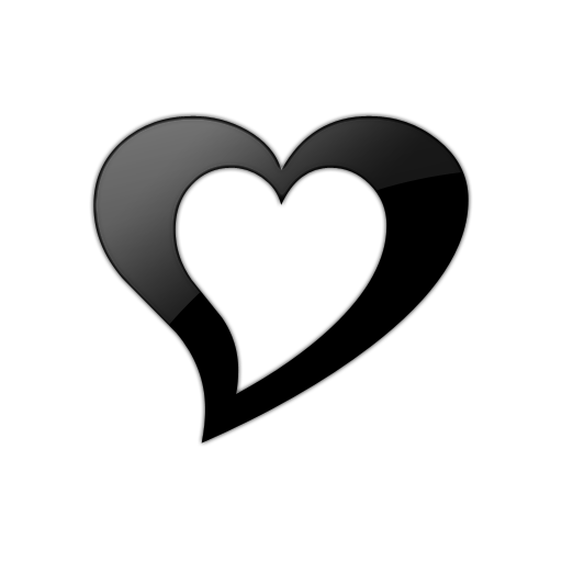 black heart icon clipart best double heart clip art personalized color double heart clipart outline