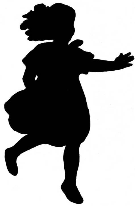 Silhouette Alice Clipart - Free to use Clip Art Resource