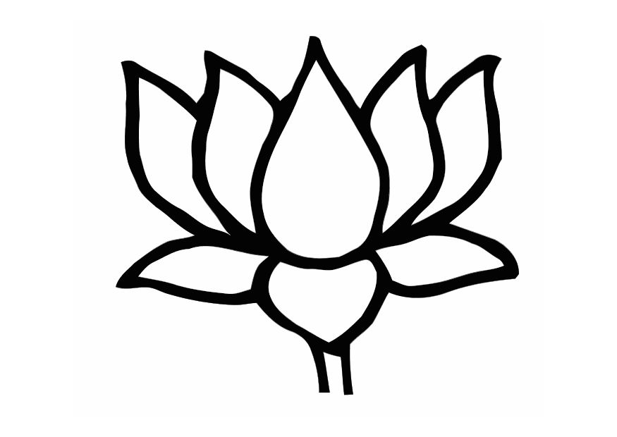 Line Drawing Of Lotus Flower : Lotus flower line drawing clipart best