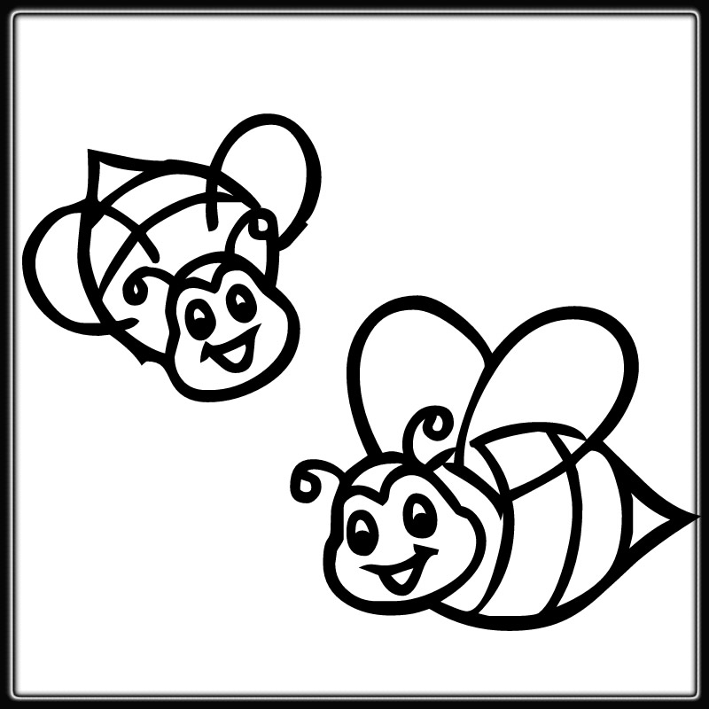 Busy Bees Coloring Pages