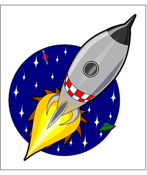 Kliponius Cartoon Rocket clip art - vector clip art online ...