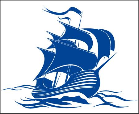 эмблема лодка с парусом