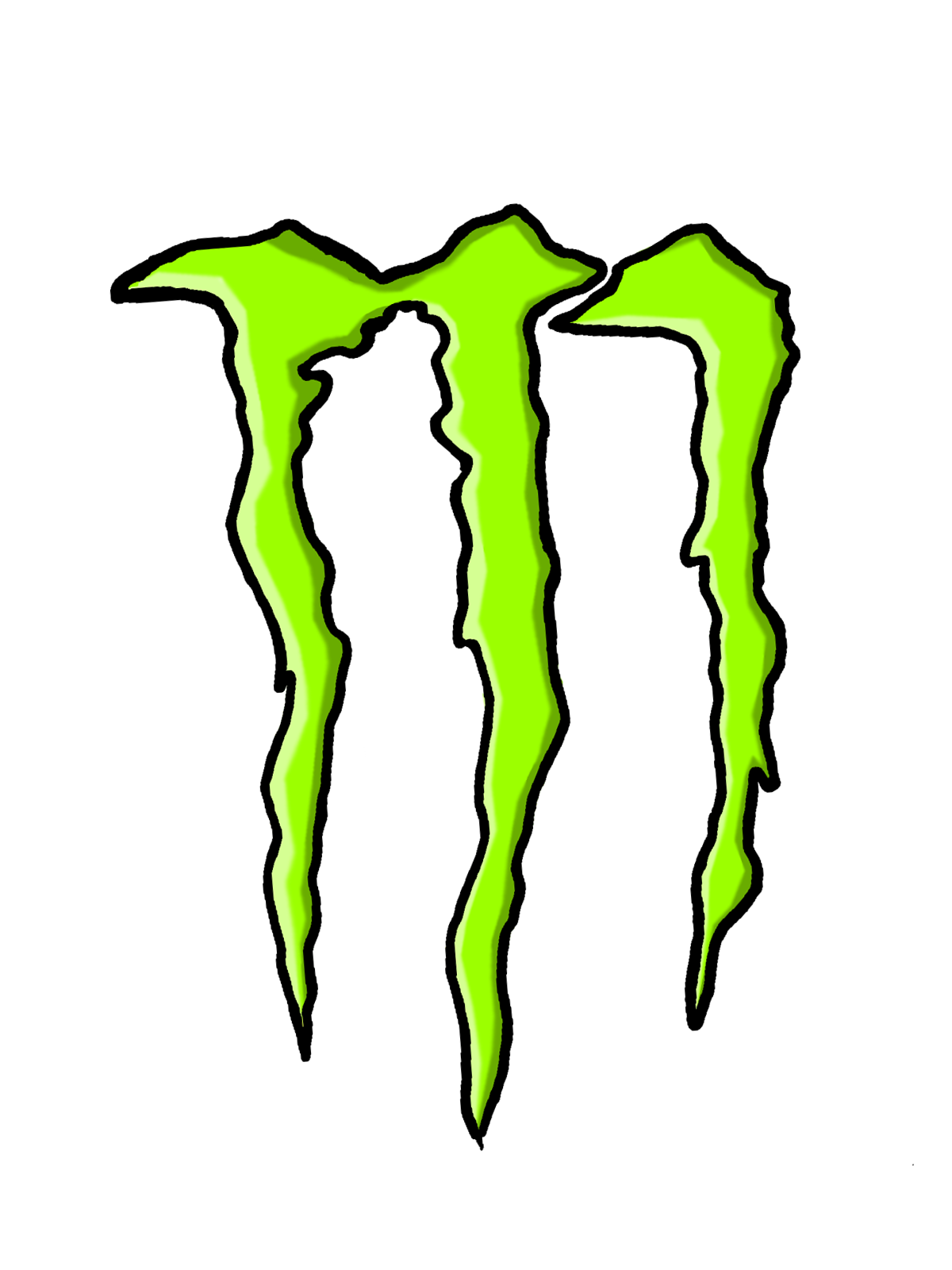 Monster logo clipart