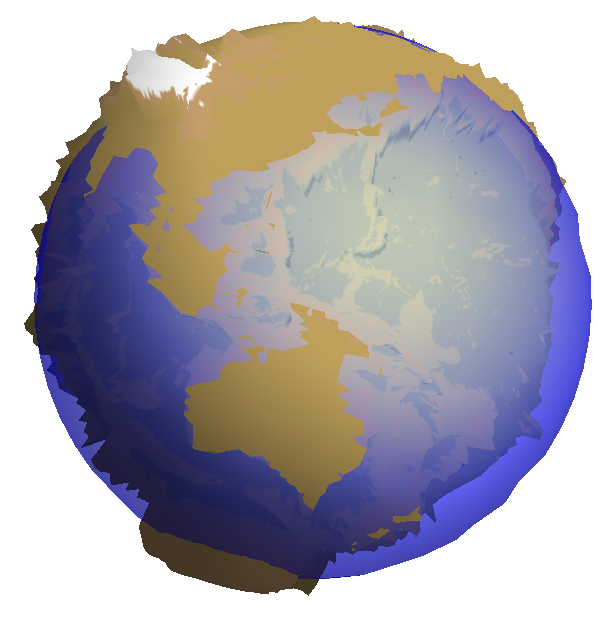 how to draw a 3d globe