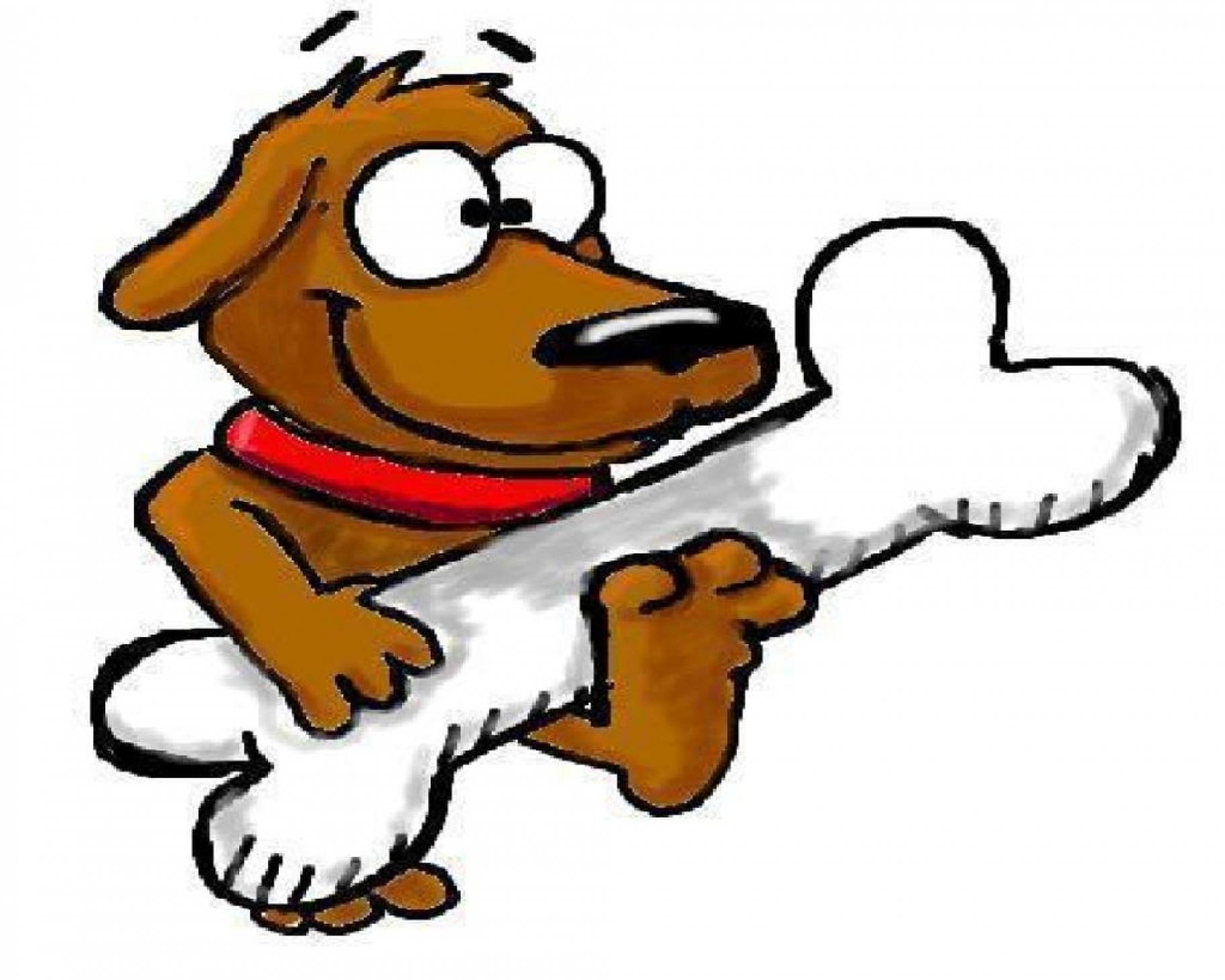 CREATING IN PARADISE: Dog with Bone | Cartoon clip art, Dog caricature,  Clip art