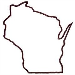 Best Photos of Wisconsin State Outline - Wisconsin State Map ...