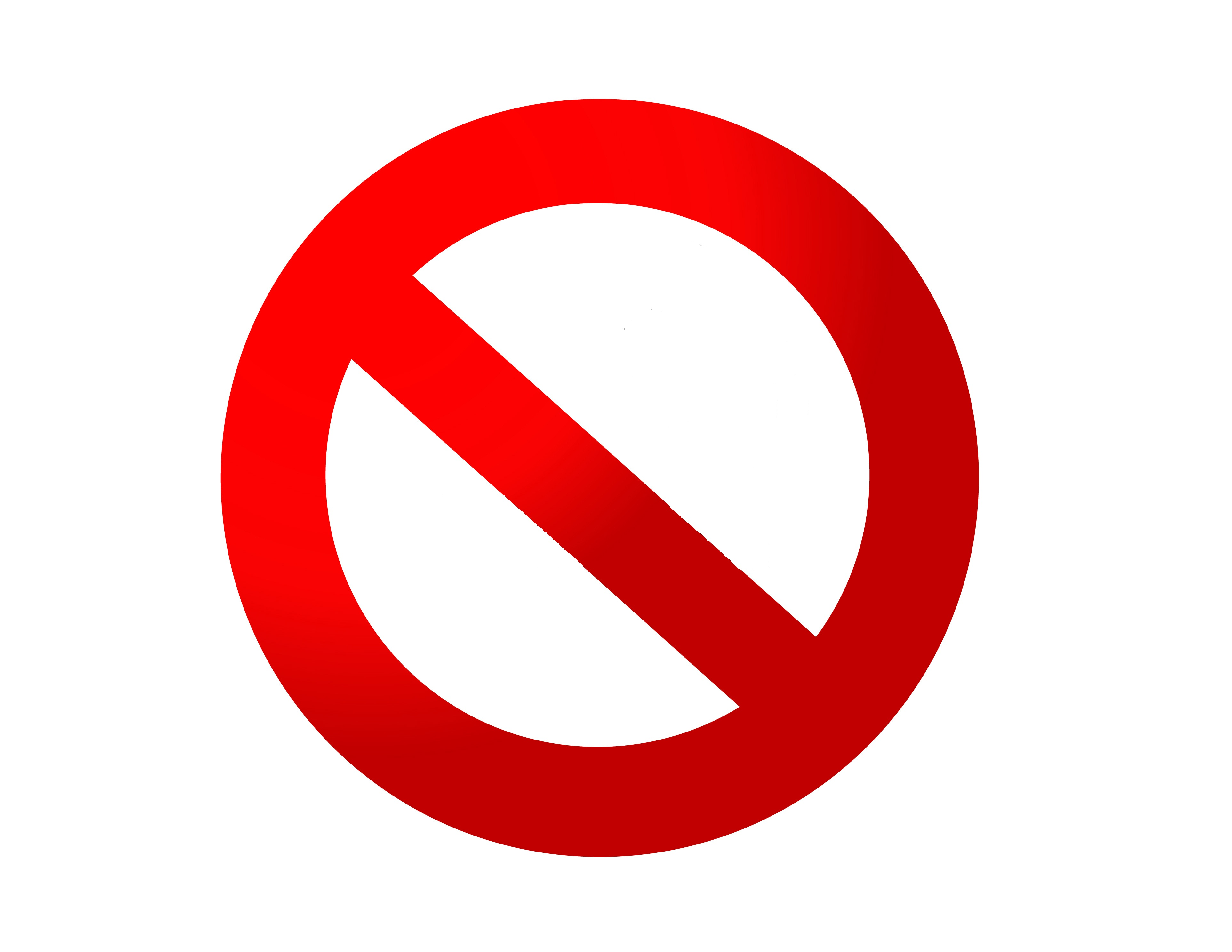 Red no signRed No Sign