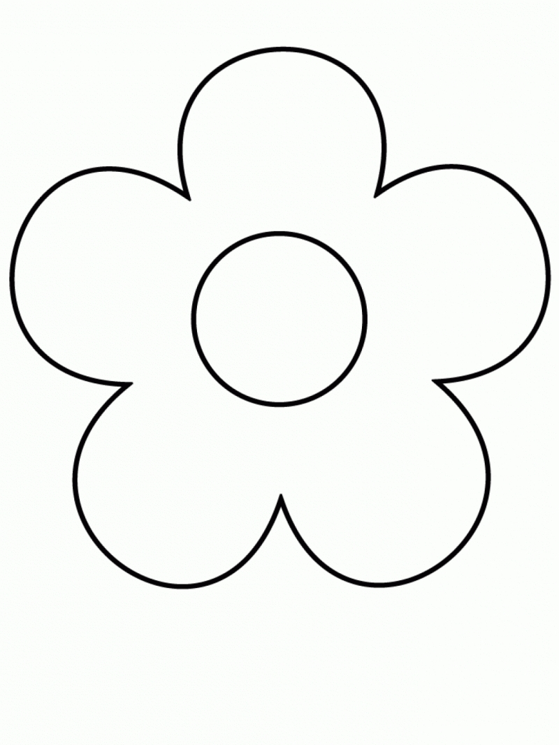 Simple flowers to draw for kids for Simple flowers for drawing