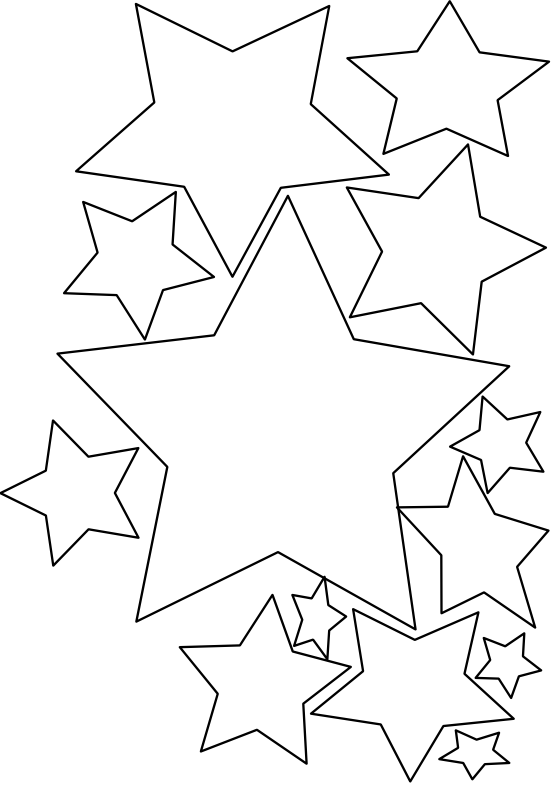 Stars Lkjhgfds Black White Line Art Christmas Xmas Holiday ...