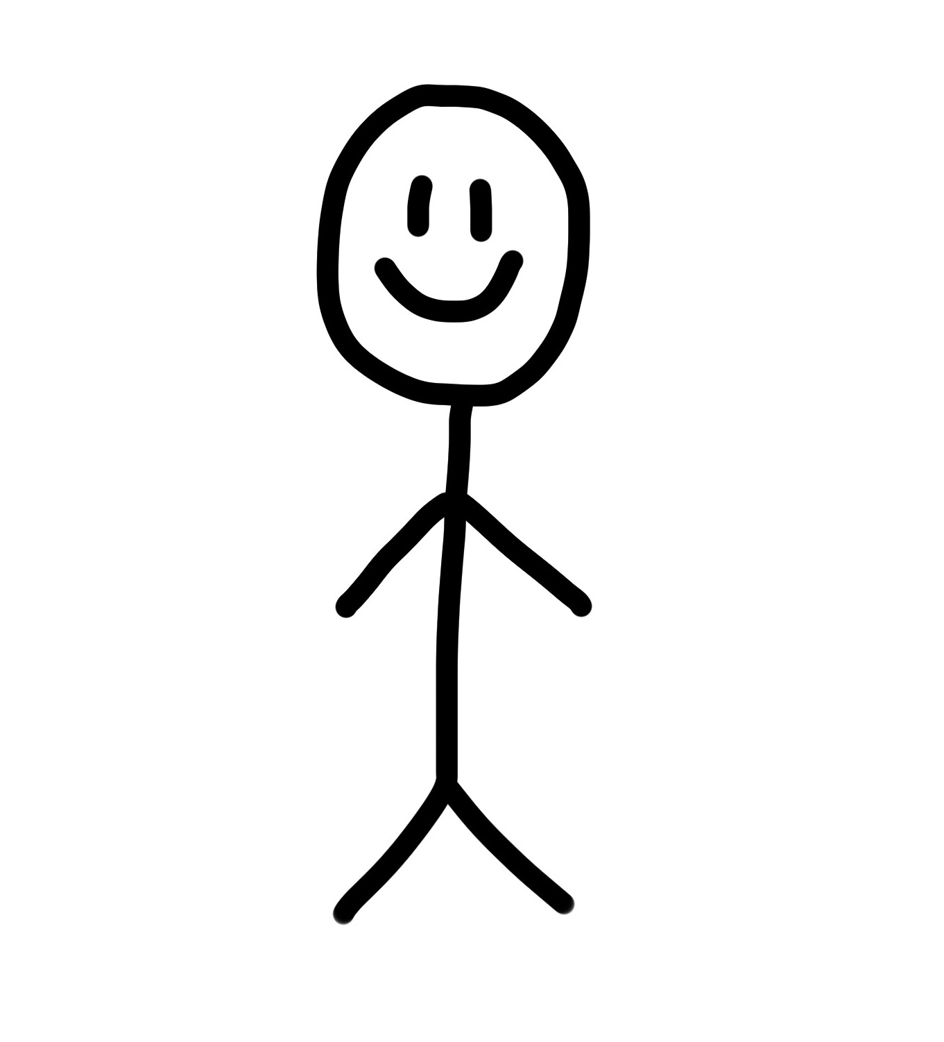 Happy Stick Figure Clipart