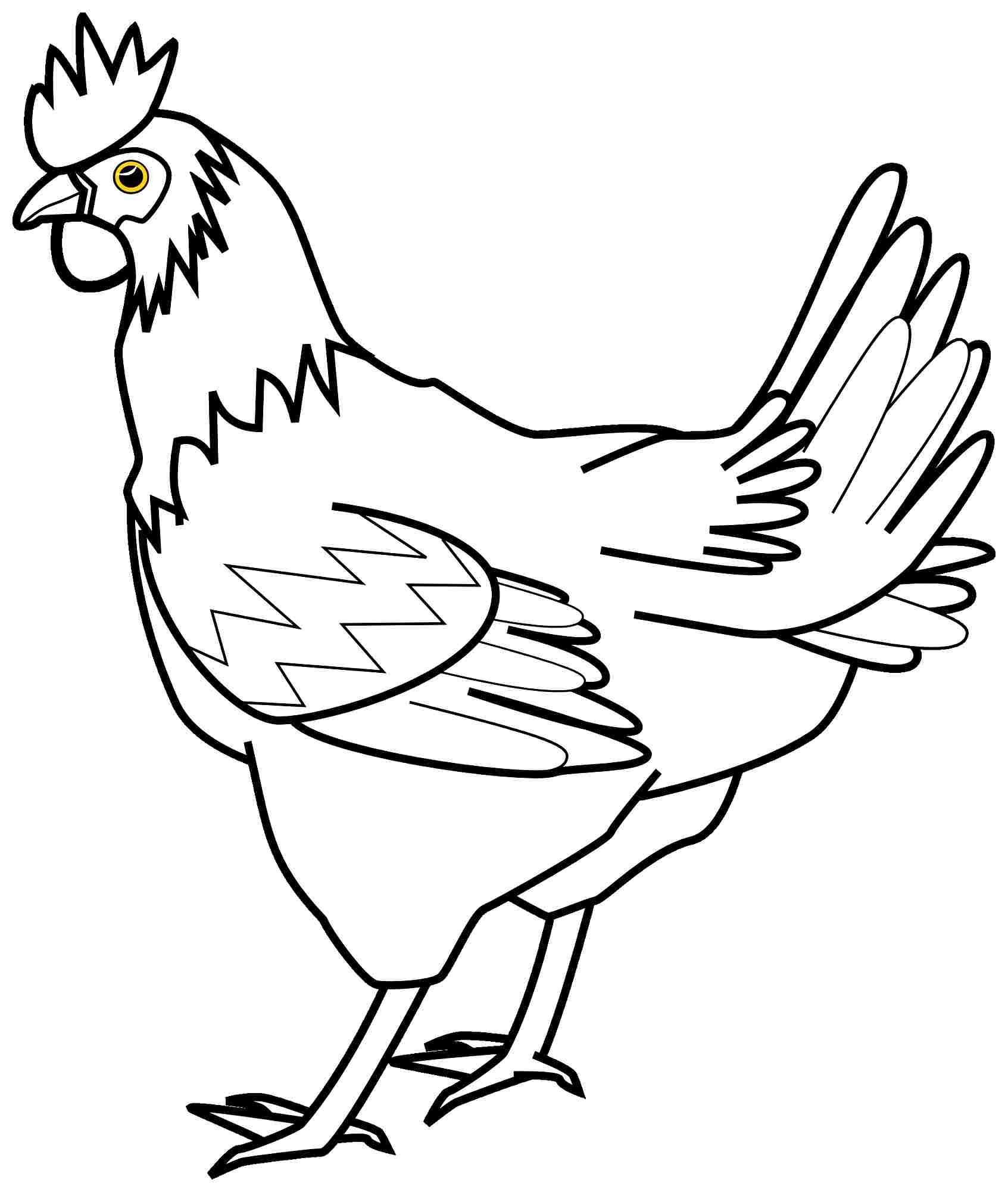 Line Drawing Rooster : Hen line drawing clipart best