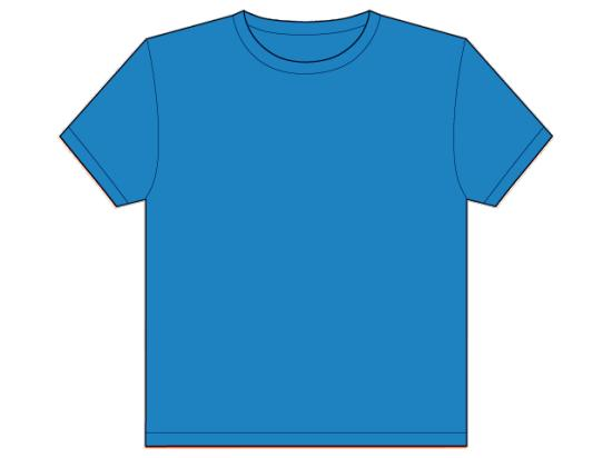 Imgs for plain blue t shirt template clipart best for Blue t shirt template