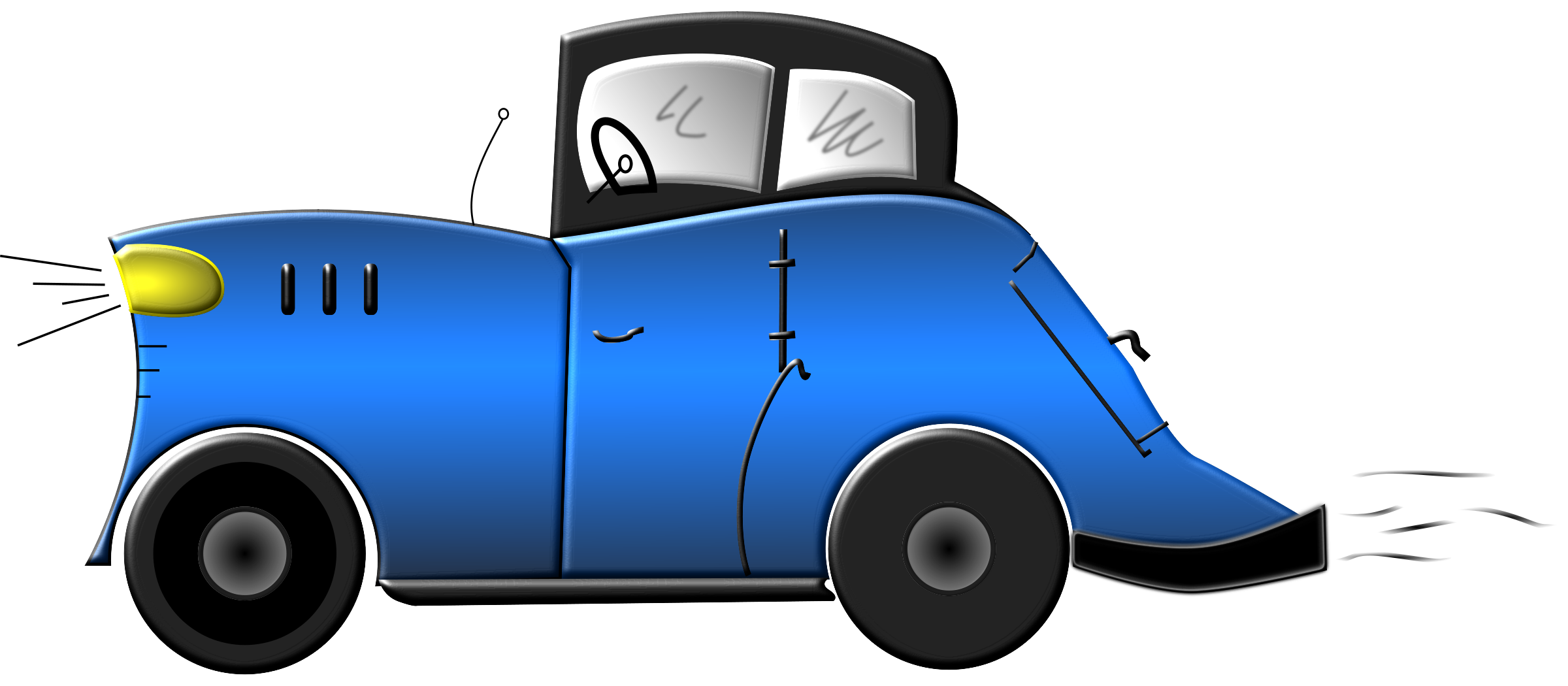 Blue Animated Car Clipart Best