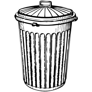 Trash Can clip art - vector clip art online, royalty free ...