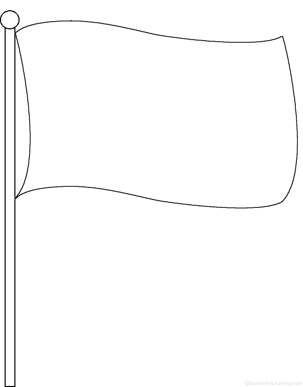 blank flag template clipart best Blank Flag Outline  Blank Flag Coloring Page