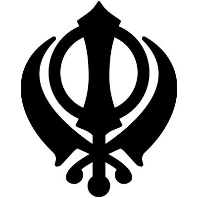 khanda colouring template clipart best