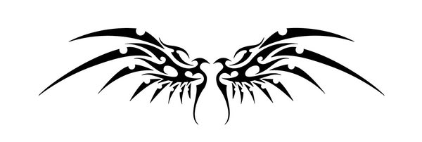 Simple Tribal Wings - ClipArt Best