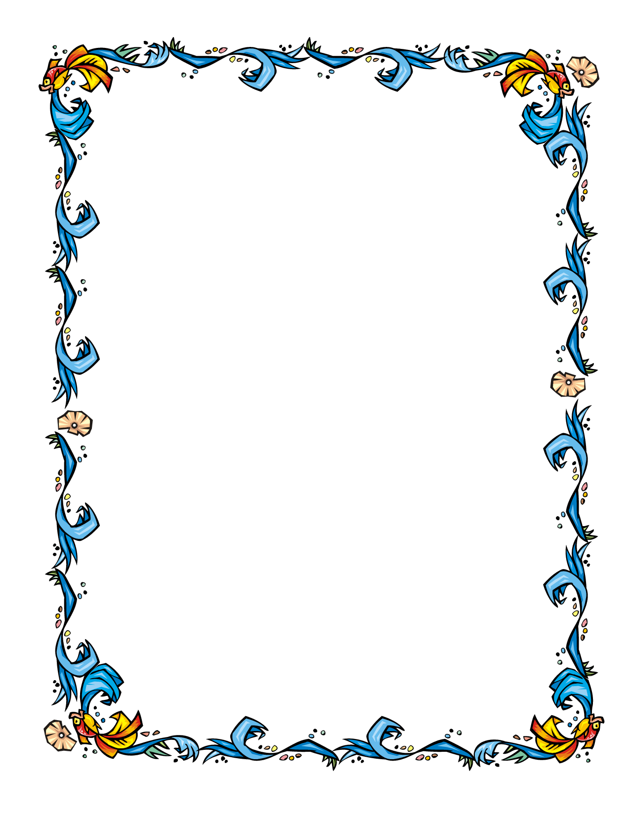 Floral borders and frames for word clipart best for Flower borders for word