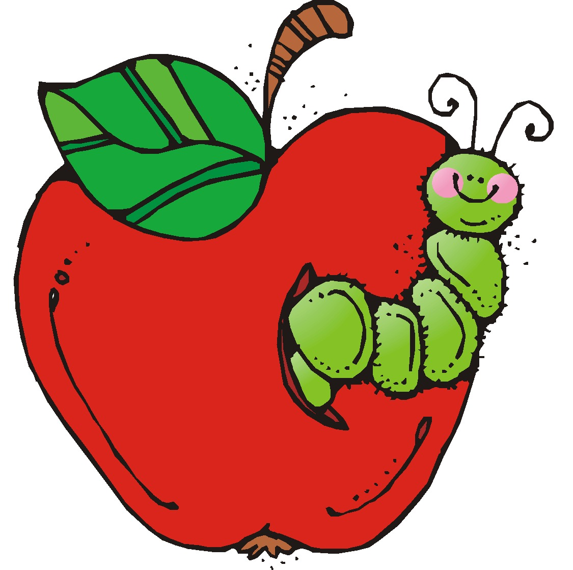 Image result for cartoon apple with worm
