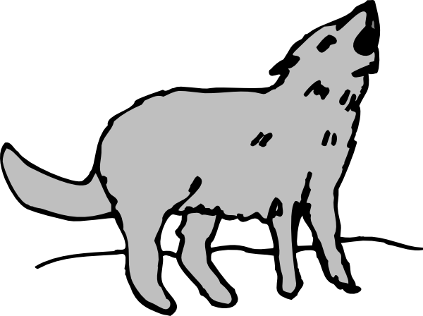 Clip Art Coyote Clipart howling coyote clip art clipart best gray vector online