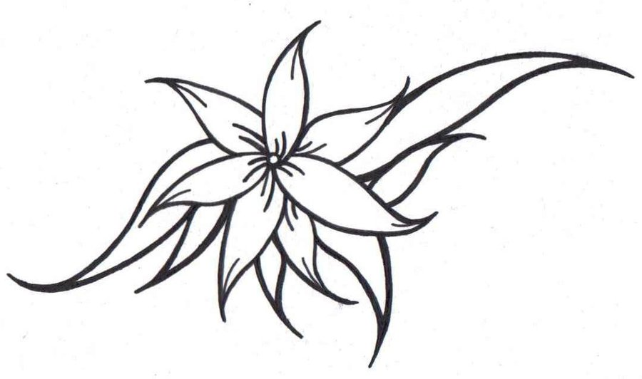Simple Flower Tattoos Designs Clipart Best