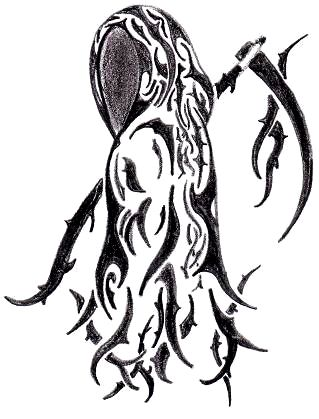 Reaper Tribal Tattoo - ClipArt Best
