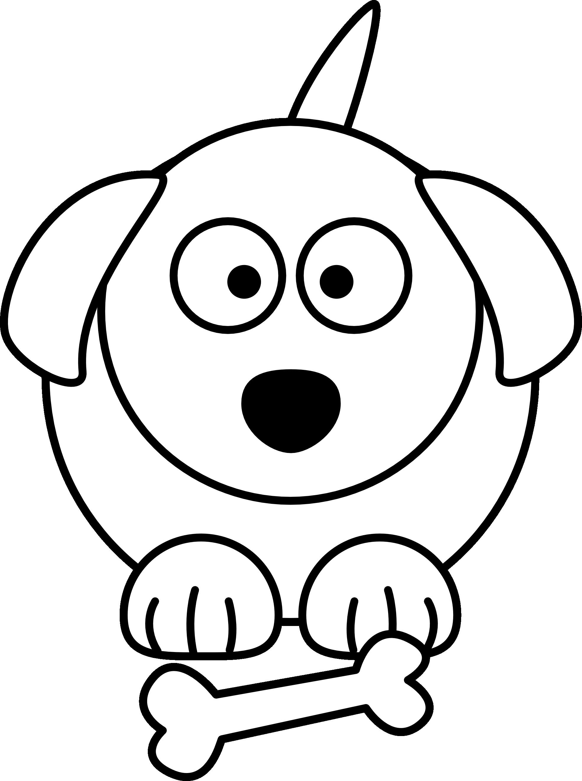 Lemmling Cartoon Dog Black White Line Art Scalable