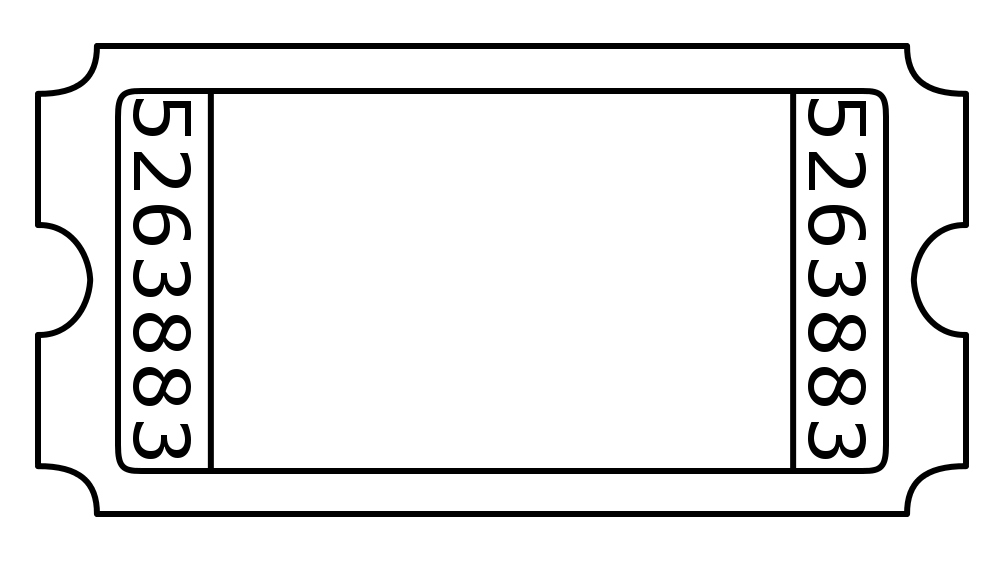 Doc600280 Blank Ticket Template Blank Ticket Template Clipart – Admission Tickets Template