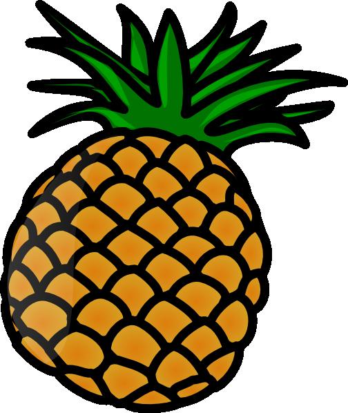 Pineapple clip art - vector clip art online, royalty free & public ...