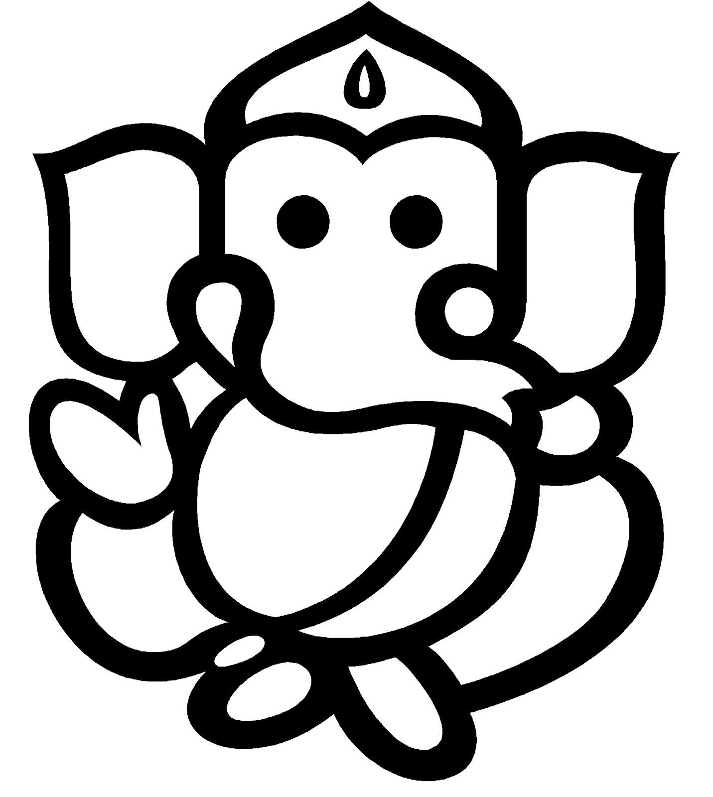 Line Art Ganesha : Ganesh line art clipart best