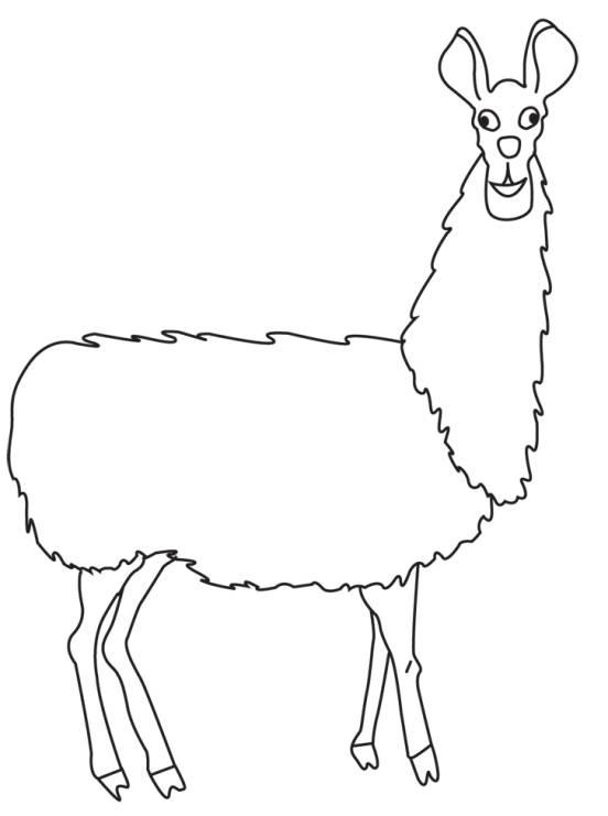 Llama Outline Llama drawing
