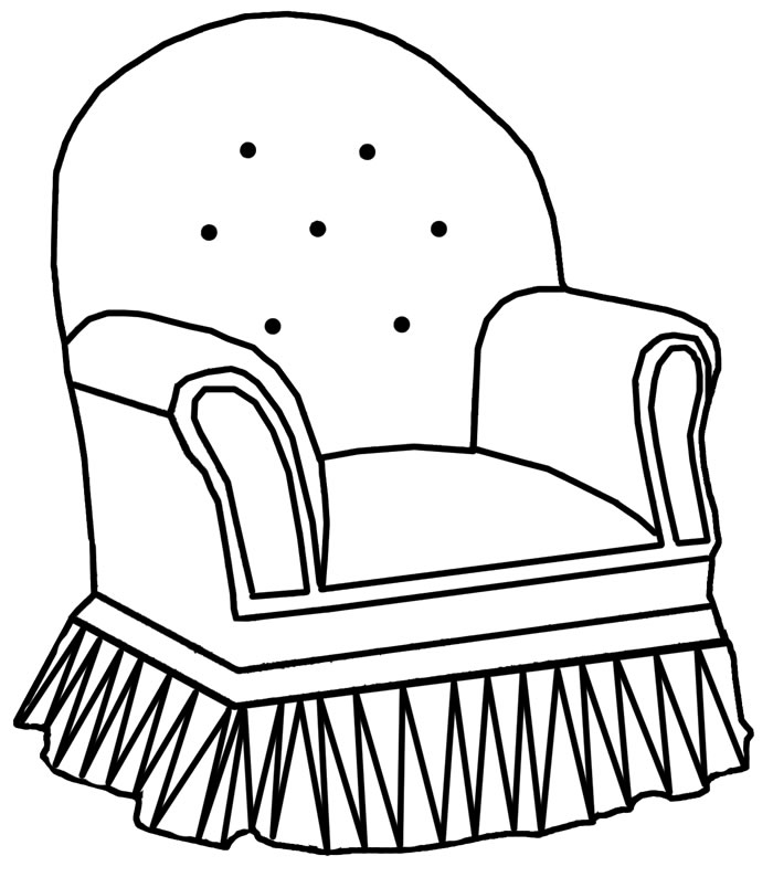 Chair outline clipart best for Children s armchairs 10 of the best