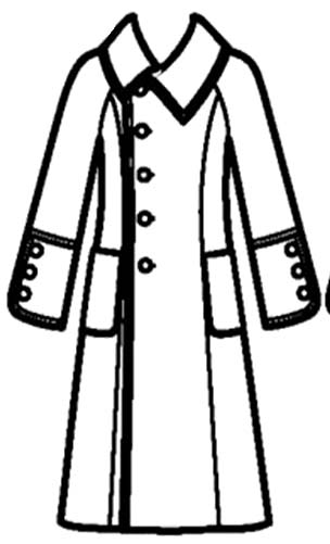Rain coat long and ready for use in coloring pages for Coloring pages of winter coats