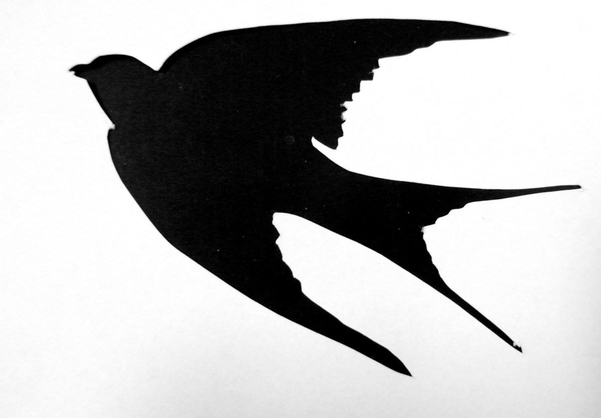 Enterprising image pertaining to bird silhouette printable
