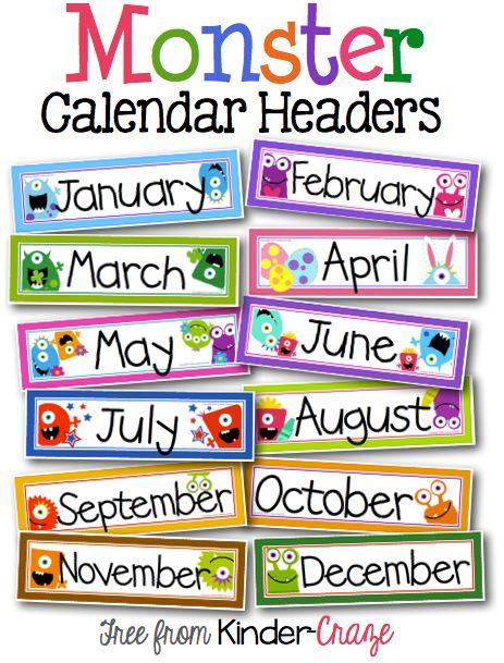 Calendar Design For Classroom : Calendar designs for classroom clipart best